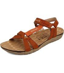 sandalia dama miel*naranja  tellenzi 438