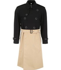 burberry bicolor trench coat