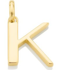 alphabet pendant k, gold vermeil on silver