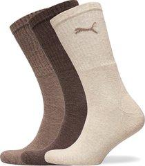 puma sport 3p underwear socks regular socks brun puma