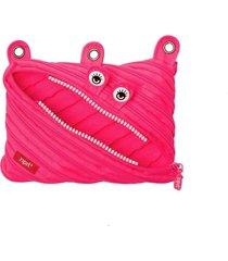 zip-it monster 3 ring binder pouch kids teen fun super long zipper neon pink