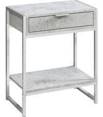 """monarch specialties accent table - 24"""" h cement"""