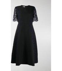 valentino lace sleeve dress