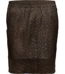 skirt in suede w. leopard print kort kjol brun coster copenhagen