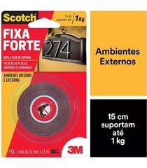 fita adesiva dupla face scotch 3m com espuma uso externo 24mmx1,5m