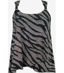 miraclesuit plus size angelfish dazzle underwire tankini top women's swimsuit