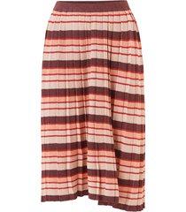 kjol viribba knit stripe midi skirt