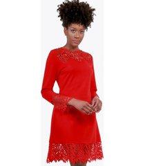 vestido campana con encaje rojo night concept