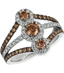 chocolatier® 14k vanilla gold®, chocolate diamond® & vanilla diamond® ring