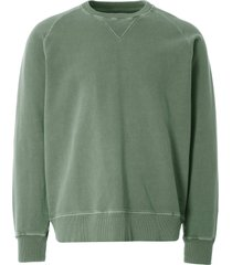 nigel cabourn embroidered arrow crew sweatshirt | washed army |ncj-54 arm