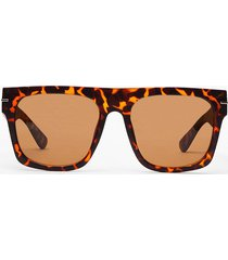 womens life's too tort flat top sunglasses - brown