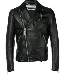 off-white business casual biker jacket - black
