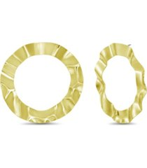 catherine malandrino women's gold-tone open circle wrapped hoop earrings