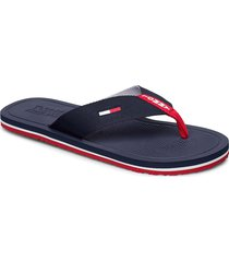 comfort footbed beac shoes summer shoes flip flops blå tommy hilfiger