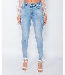 skinny jeans parisian frayed hem mid waist skinny jeans
