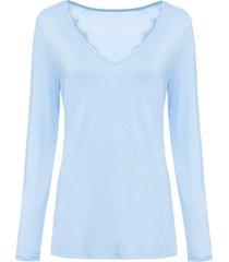 maglia a maniche lunghe con applicazione di pizzo (blu) - bodyflirt