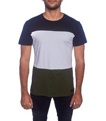 camiseta multicolor frank pierce cortes negro-blanco-verde