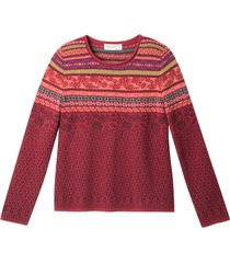jacquard trui, rood-motief 40/42