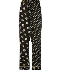 oscar de la renta blossom trousers - black