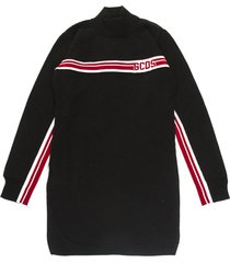 gcds black wool blend dress
