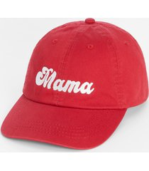 maurices womens red mama baseball hat