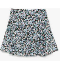 womens call me if you seed me floral skort shorts - lilac