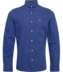 d1. bc print slim bd overhemd business blauw gant