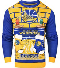 nba golden state warriors 3d unisex adult ugly sweater detachable candle stockin