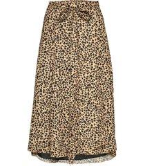inger johanne 2 knälång kjol brun fall winter spring summer