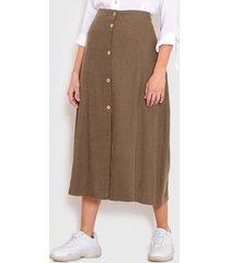 falda wados solid verde - calce regular