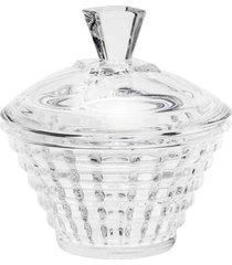 bomboniere rojemac de cristal com tampa diamond incolor