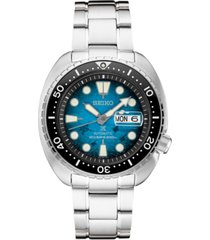 seiko men's prospex blue manta ray diver stainless steel bracelet watch 45mm - a special edition