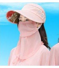 sombrero de sol nuevo para mujer, rosa