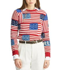 sweater flag cotton multicolor polo ralph lauren