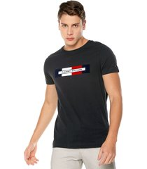camiseta azul navy tommy hilfiger