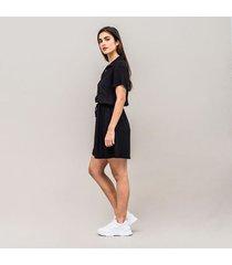 vestido amplio corto manga corta poliana