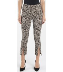 nanette nanette lepore pull on slim ankle pants with front ankle slits