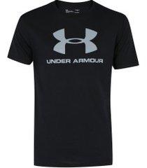 camiseta under armour logo ss - masculina - preto