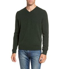 men's big & tall nordstrom men's shop cashmere v-neck sweater, size xxx-large - green