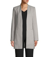 stretch open-front blazer