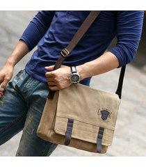 uomo canvas vintage business casual outdoor crossbody borsa