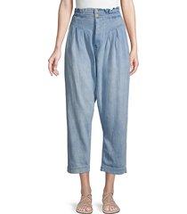 free people women's mover & shaker high-rise jeans - capri blue - size 0