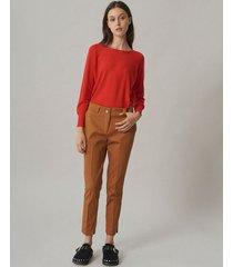 pantalón marrón desiderata escencial