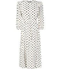 alessandra rich printed silk dress
