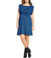 women's maternal america maternity printed tunic dress, size large - blue