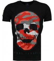 army skull - rhinestone t-shirt