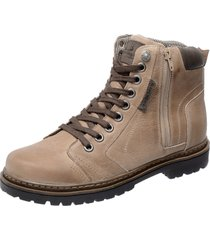 bota coturno em couro mega boots 6015 bege - bege - masculino - dafiti