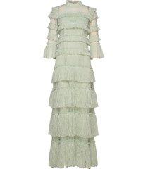 carmine maxi dress maxi dress galajurk groen by malina
