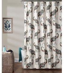 "hati elephants 72"" x 72"" shower curtain bedding"