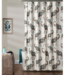 "hati elephants 72"" x 72"" shower curtain bedding"